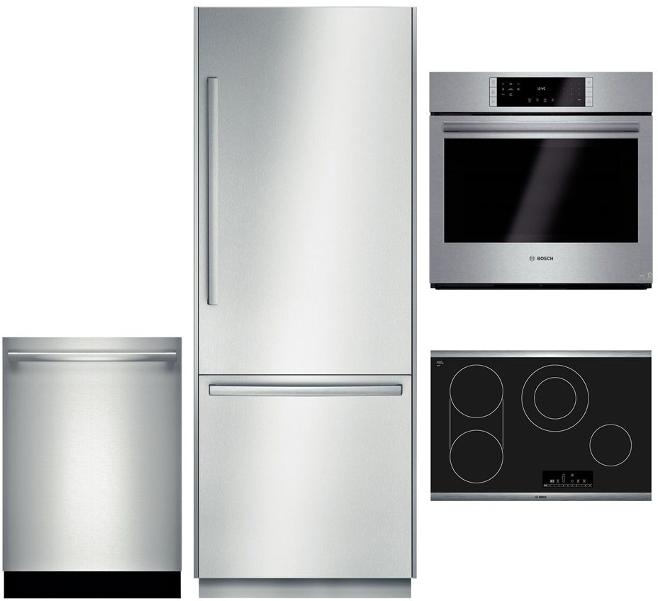 Bosch Hbl8451uc4pckit1 4 Piece Stainless Steel Kitchen Package With B30bb830ss 30 Counter Wall Oven Stainless Steel Kitchen Appliances Stainless Steel Kitchen