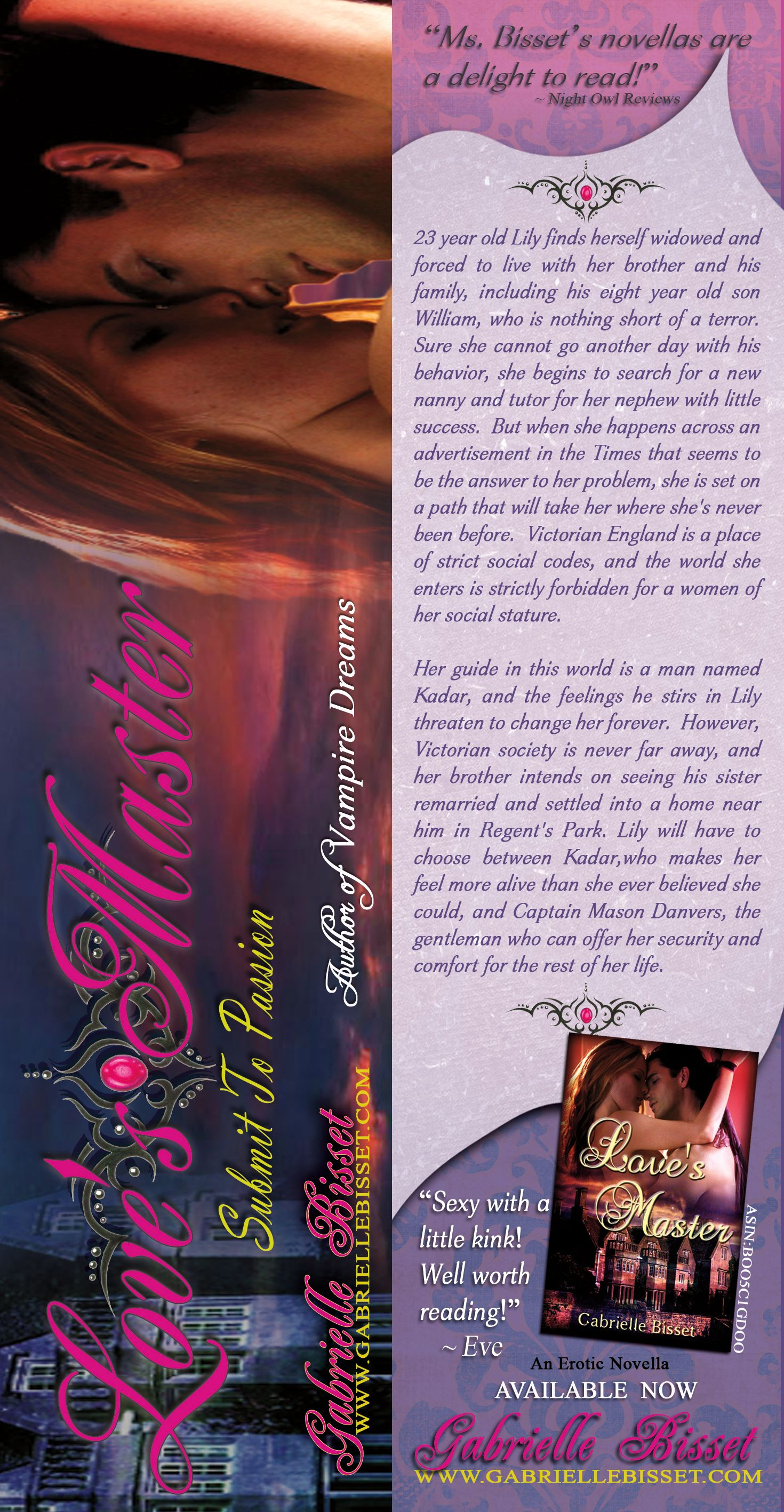Double sided bookmark made for author Gabrielle Bisset by Bookin\' It ...