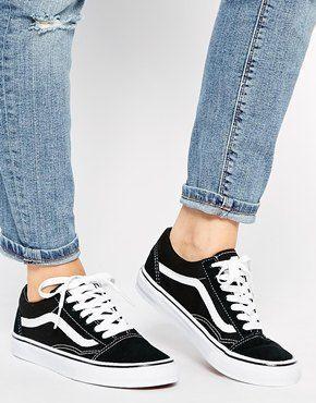 Image 4 Of Vans Old Skool Classic Trainers Classic Sneakers Shoes Women Heels How To Wear Vans