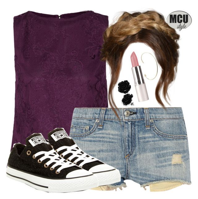 """""""Hawkeye Inspired Warm Weather Outfit"""" by lauloxx ❤ liked on Polyvore featuring Alice + Olivia, rag & bone, Converse, Jennie Kwon, Summer, casual and Hawkeye"""