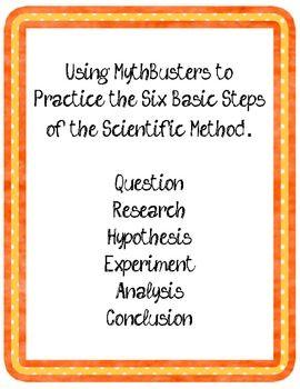 Mythbusters Response Form Scientific Method Teaching Middle School Science Teaching Scientific Method