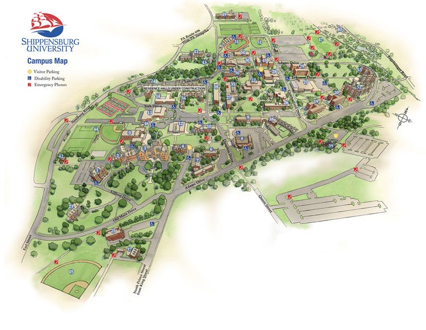 check out our virtual map of the shippensburg university campus