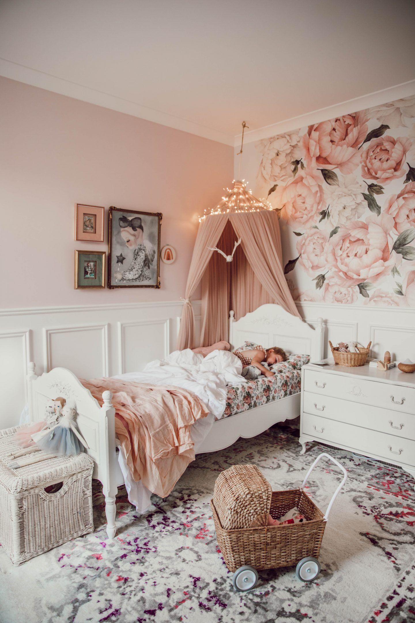 Alaska S Big Girl Room With Exclusive Discounts Miss Kyree Loves Girl Room Girls Room Wallpaper Toddler Girl Room
