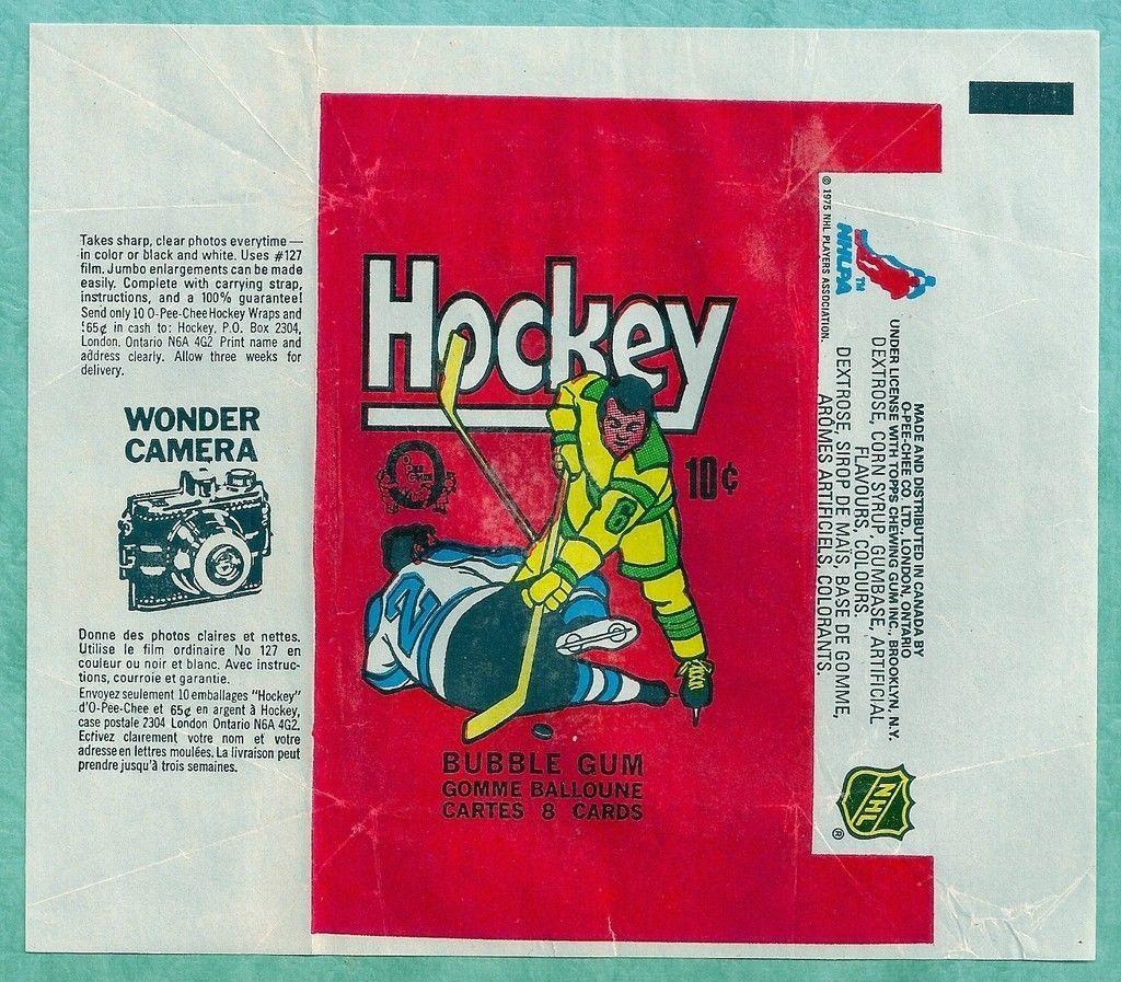 1975 76 OPC Vintage Hockey Card Wax Wrapper eBay Sirop