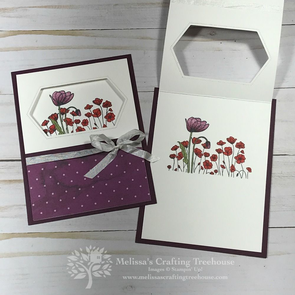 Painted Poppies Stampin Up Cards Melissa S Crafting Treehouse Cards Crafting Inspiration M En 2020 Carte Fete Des Meres Carte Scrapbooking Creation De Cartes