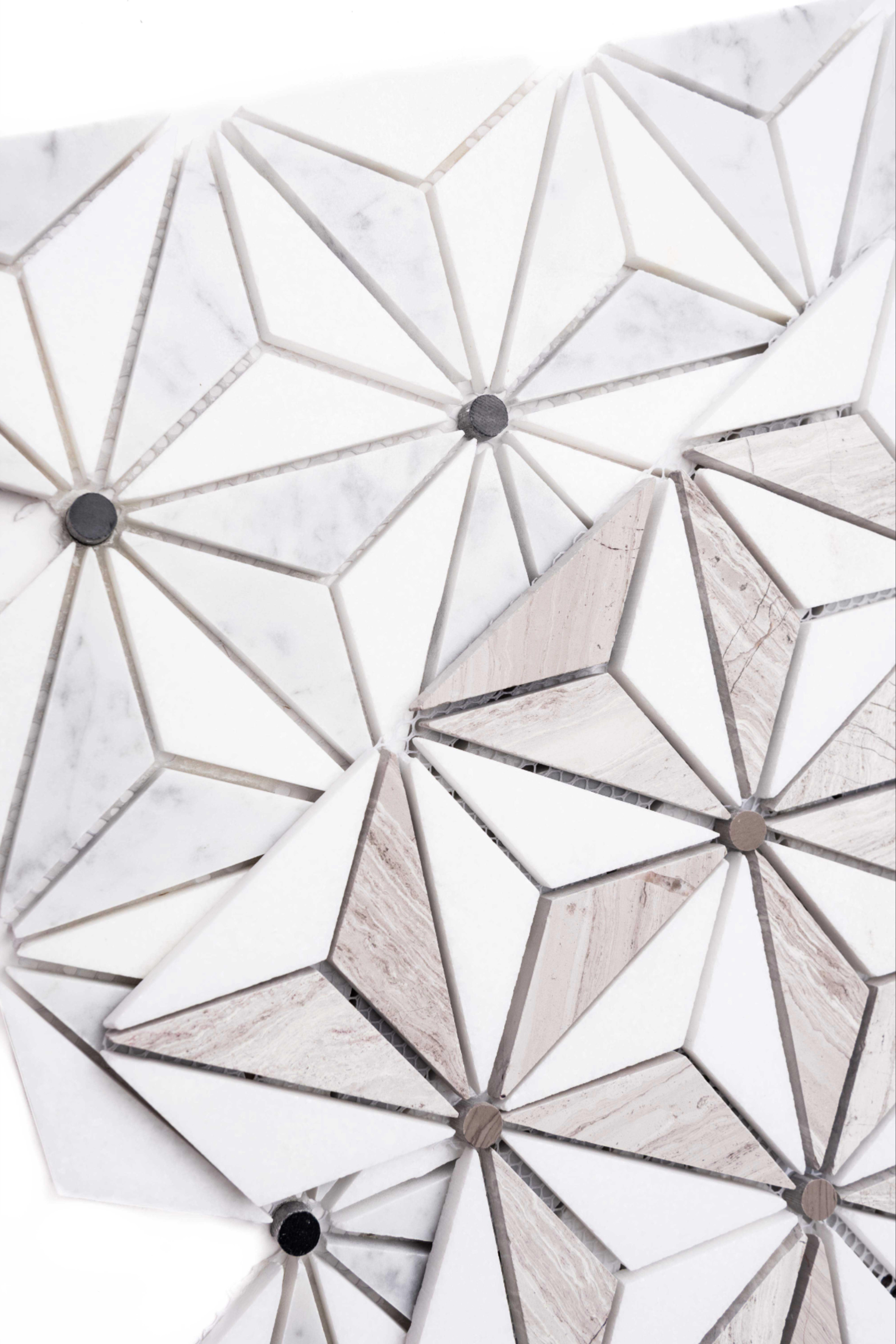 Santorini 1 X 3 Marble Mosaic Tile In 2020 Marble Mosaic Tiles Marble Mosaic Mosaic Tiles