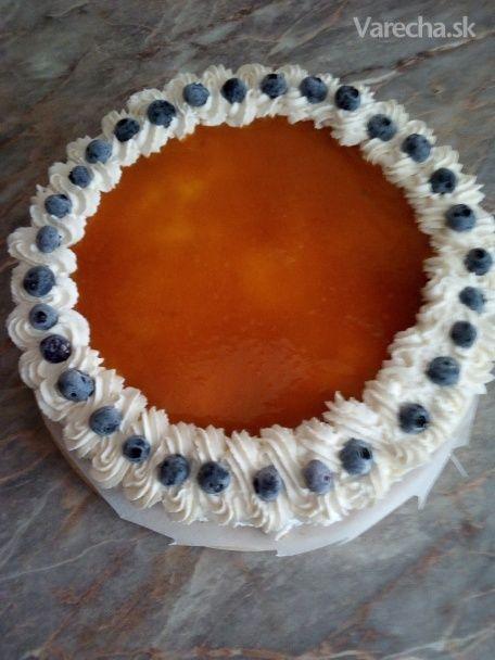 Bezlaktózová tvarohovo-čučoriedková torta - Recept