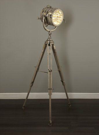 Chrome Holly Willoughby Camera Floor Light
