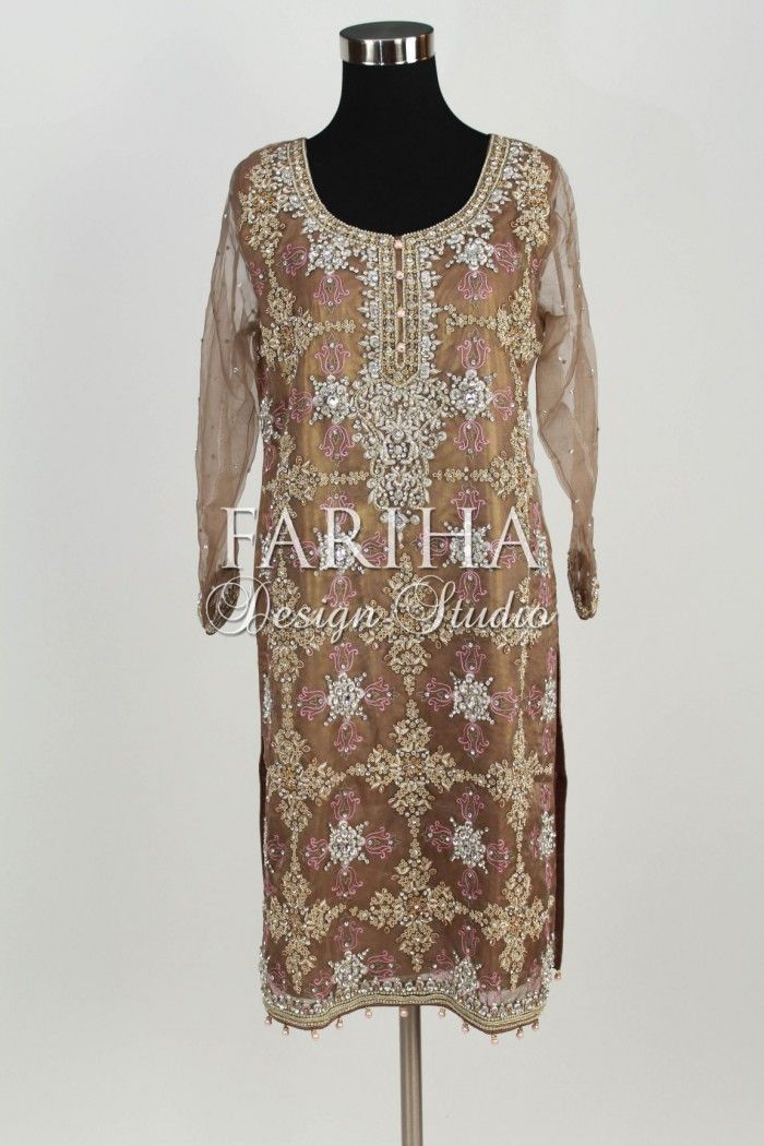 Copper Formal Wear Pakistani Latest Designer Wear Dresses