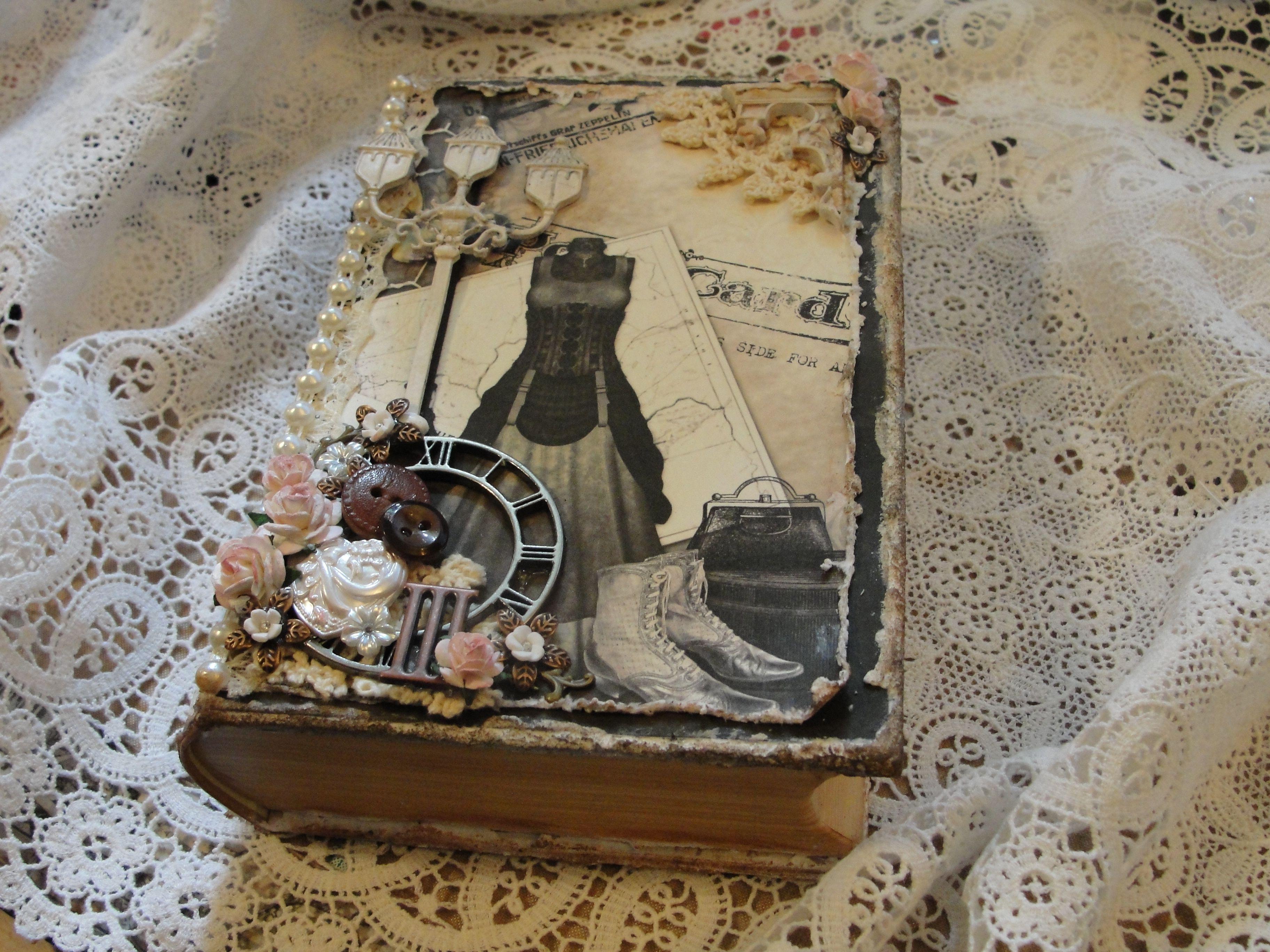My altered book/box with Time Traveler digital kit, avail: http://kittylicious11.blogspot.com/2013/08/time-traveler-printable-kit-10.html
