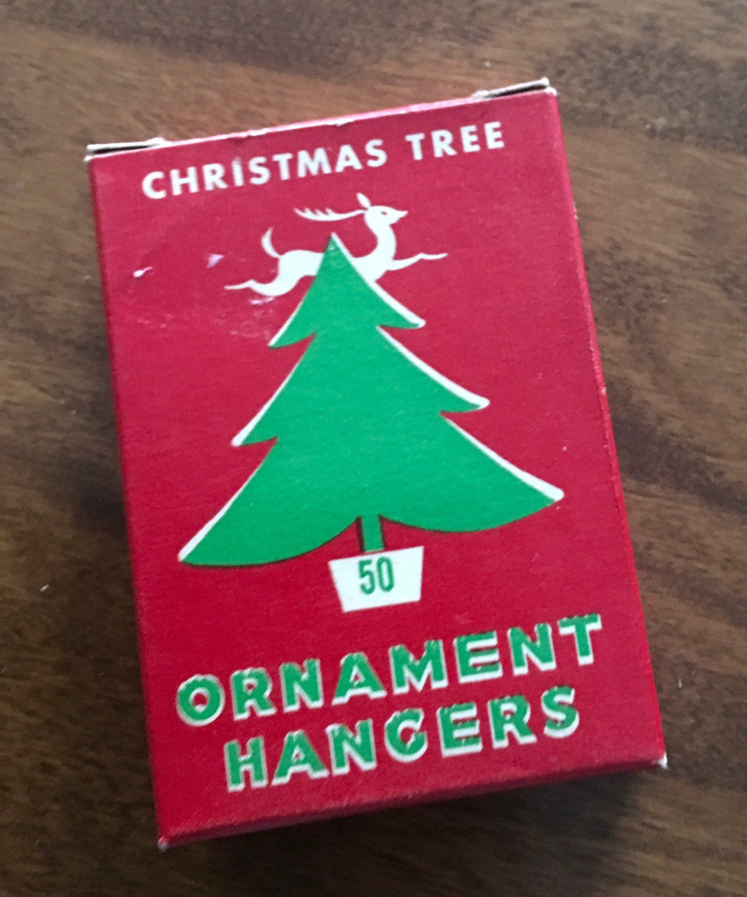Vintage Box Of Christmas Ornament Hangers 1950s National Tinsel Manufacturing Company Manitowoc Wis Now Closed B Vintage Christmas Tree Vintage Box Christmas