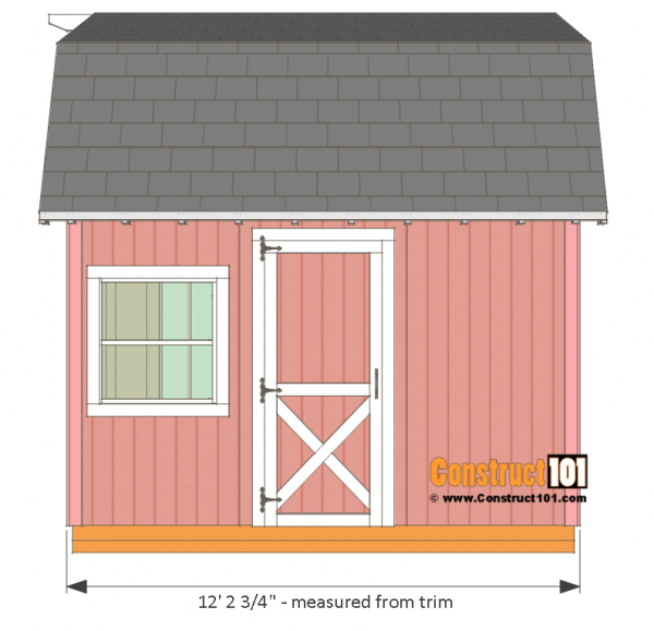 12x12 Barn Shed Plans With Overhang Free Pdf Sheds Pinterest