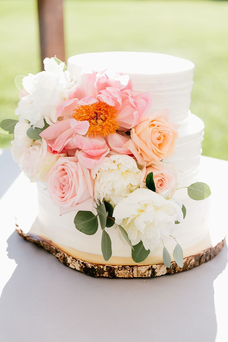 Bright + Beautiful Summer Wedding with Geometric Accents   - Wedding Cakes + Sweets -