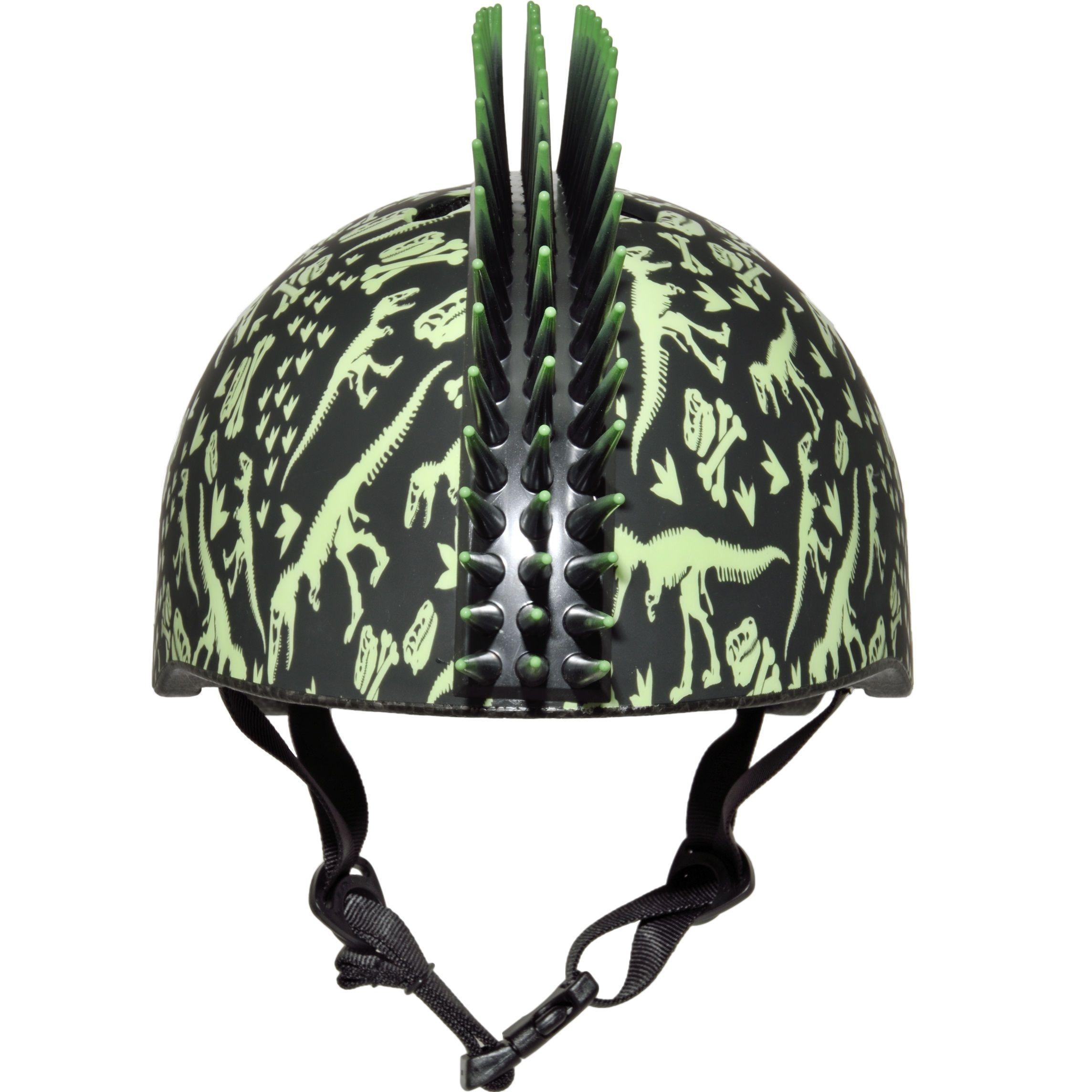Raskullz trex bonez mohawk toddler helmet black and green