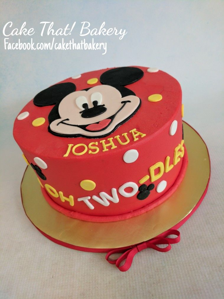Mickey Mouse Toodles 2nd Birthday Cake Two Dles Mickey