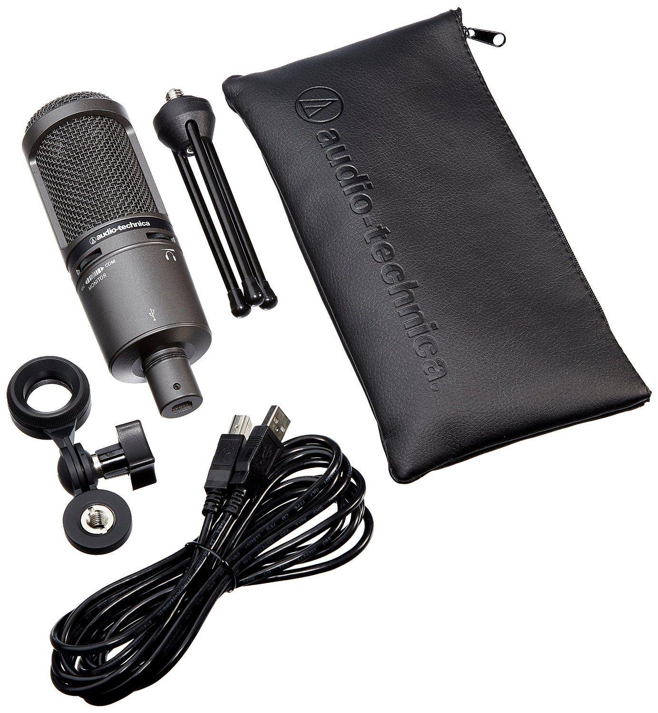 Amazon Com Audio Technica At2020usb Plus Cardioid Condenser Usb Microphone