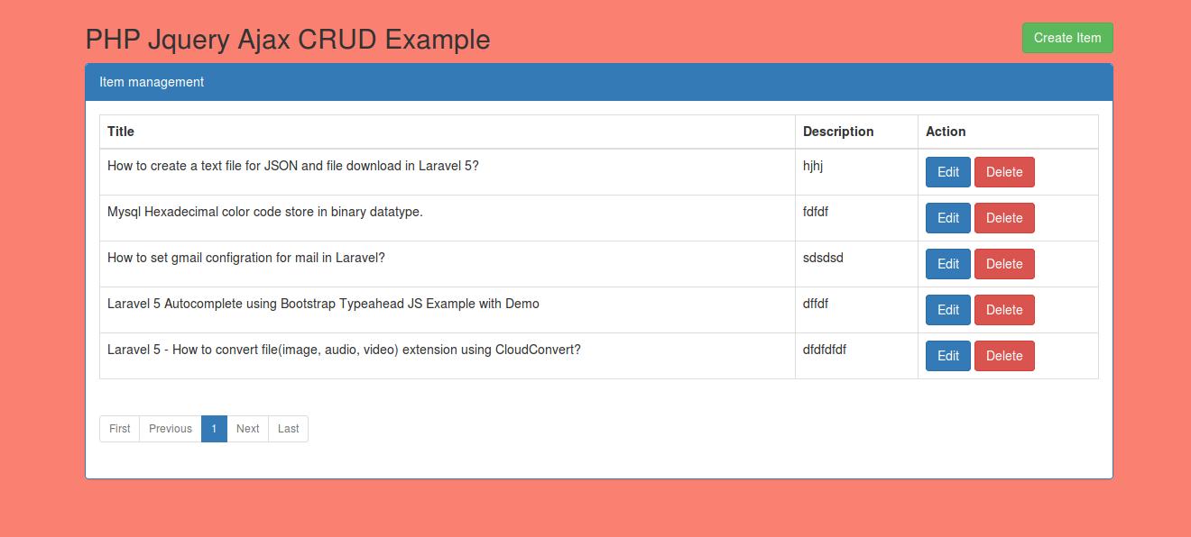 Simple Php Jquery Ajax Crudinsert Update Delete Tutorial Example