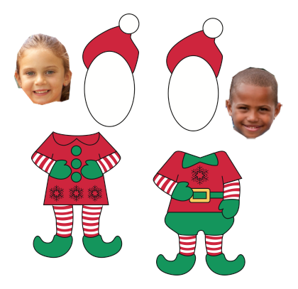 free download (elf outline) Great kick off for writing about being