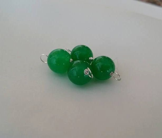 Green Jade Gemstone - Add on charm, add on pendant, wire wrapped gemstone by BeadsandFindings74 on Etsy