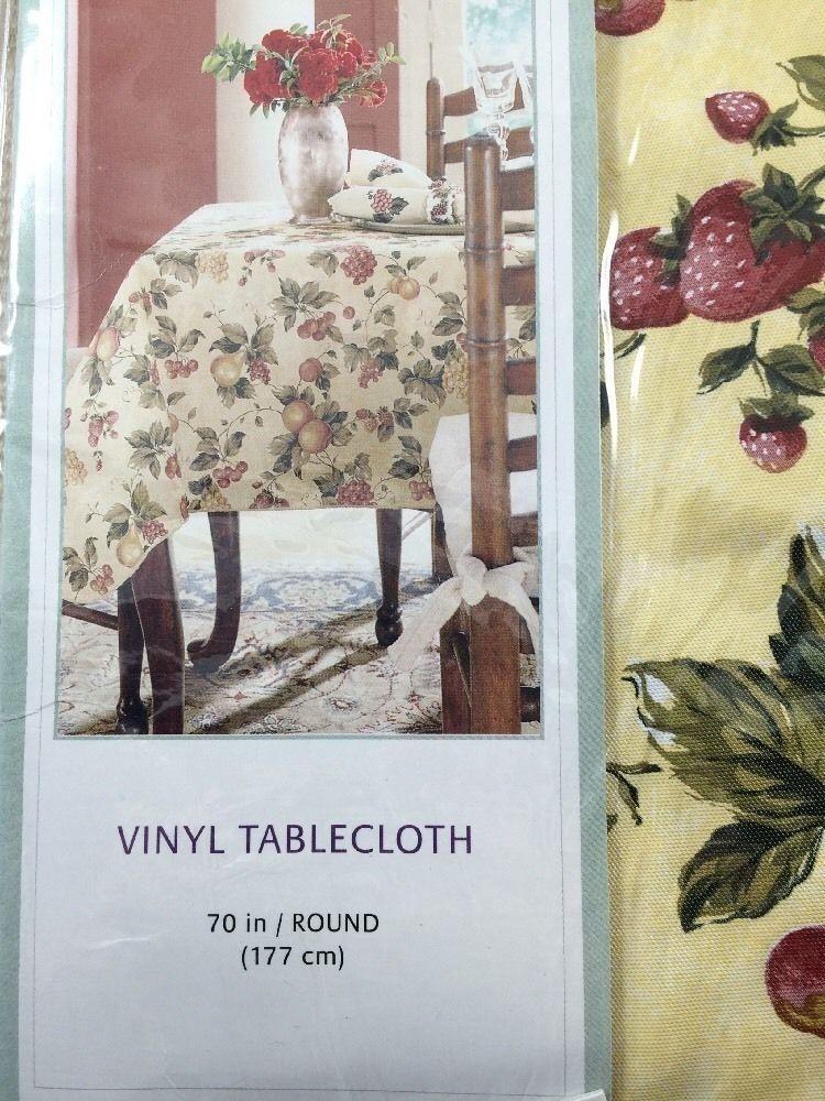 Attrayant Waverly Garden Room Floral Manor Round Vinyl Tablecloth 70 In 177 Cm New # Waverly
