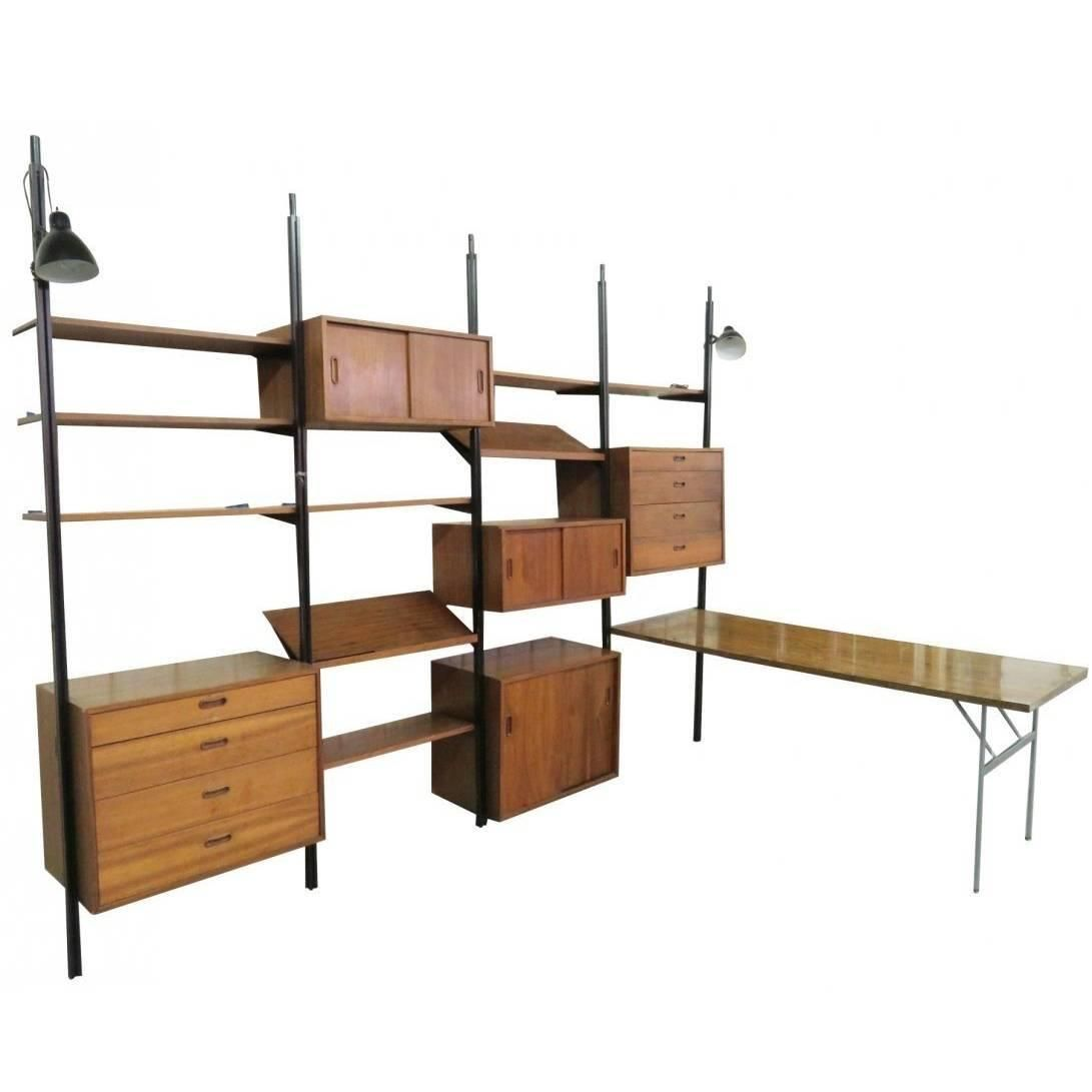 Expansive Mid Century Modern Omni Wall Unit By George Nelson Modern Wall Units Wall Shelving Units Wall Unit