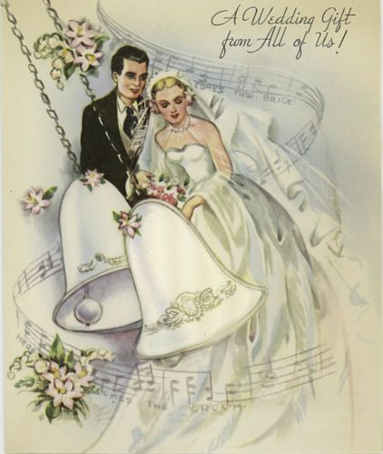 Vintage Original Unused Greeting Card Wedding Gift From All