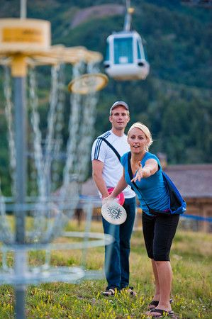 Free 9 hole disc golf course located at the base of Snowbasin Resort.