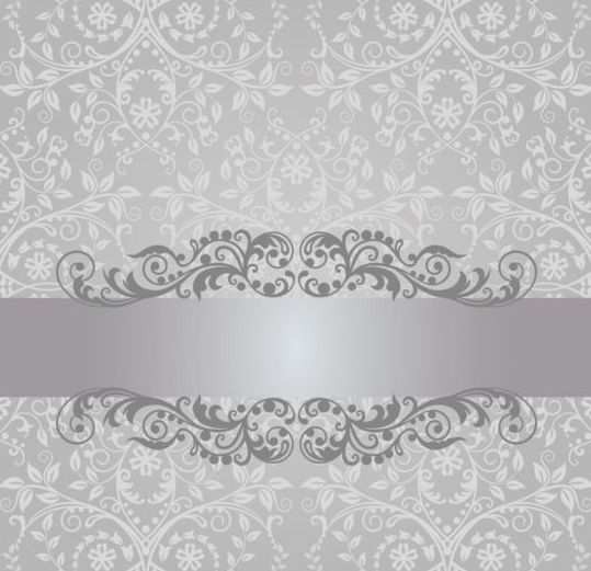 Floral damask vintage invitation background vector 02 boarders floral damask vintage invitation background vector 02 stopboris Images