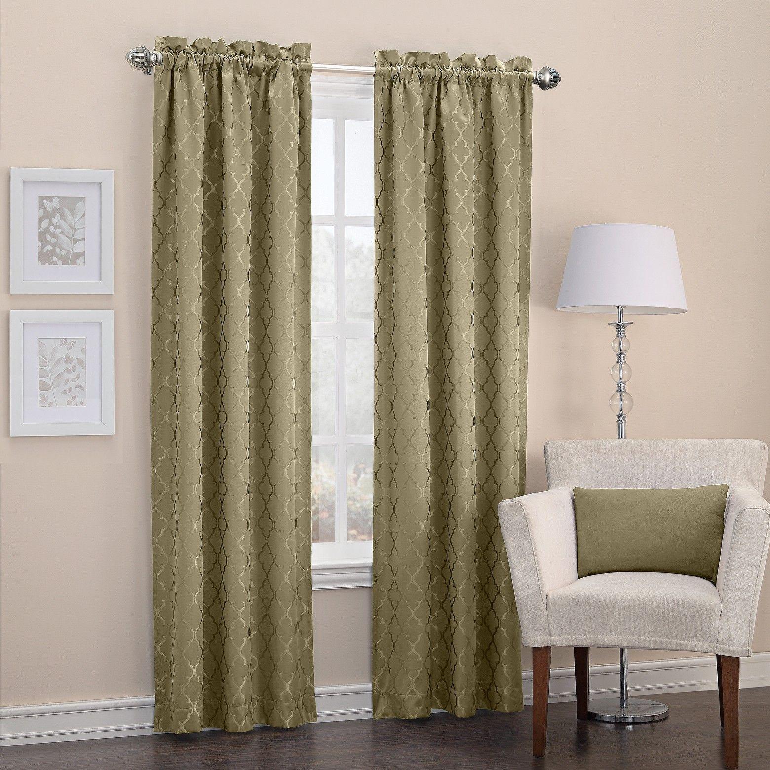 Sun Zero Viviana Woven Trellis Thermal Insulated Rod Pocket Curtain Panel Target