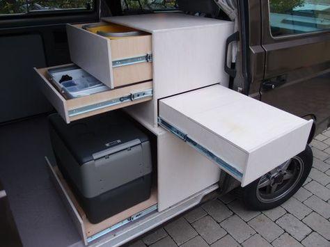 Das Vw Bus Forum Mein Kuchenschrankchen Camper Van Conversion