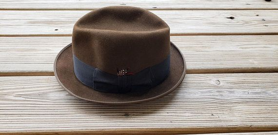 294cef145fc7e5 60's Stetson Hat, Vintage Royal Stetson Fedora Hat, Vintage Brown Fedora Hat,  Vintage Felt Fedora wi