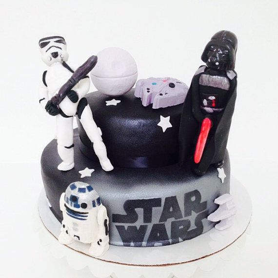Star Wars  cake & cupcake edible toppers by DulceNest on Etsy