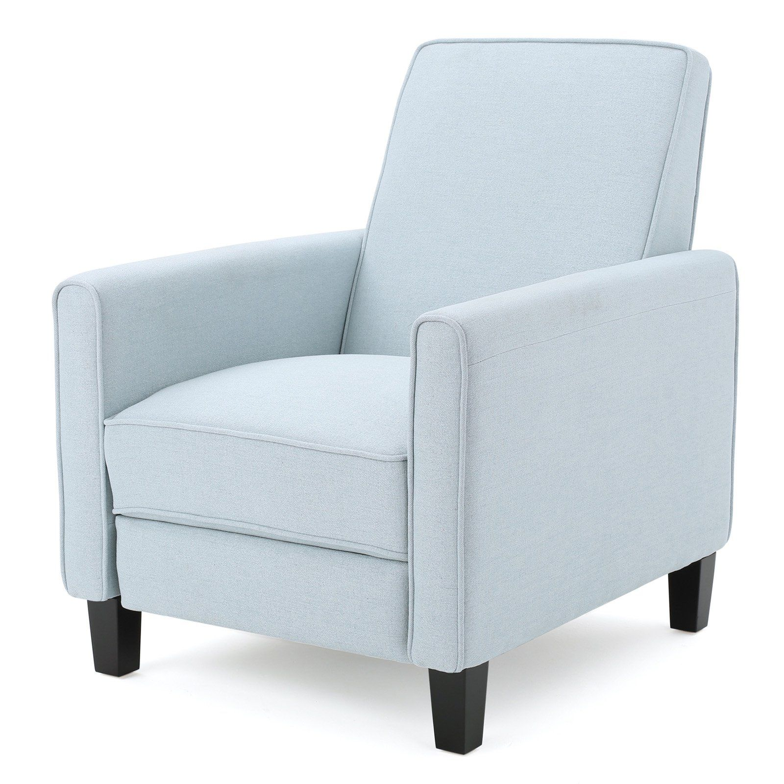 Omicron Fabric Reclining Club Chair Light Sky Club Chairs