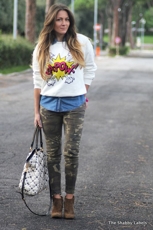 The Shabby Labels - Fashion Blog: Comic print sweater
