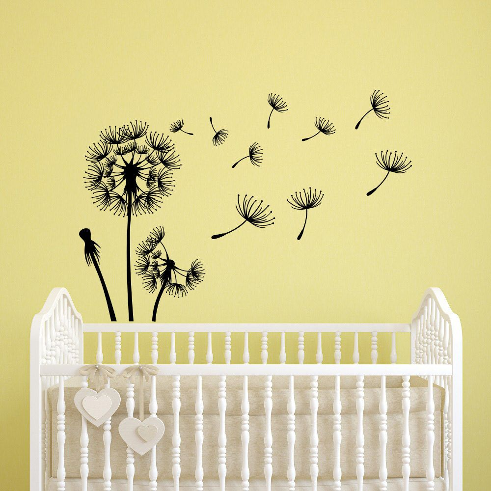 Dandelion Seeds Wall Decal- Flower Dandelion Wall Decals Nursery ...