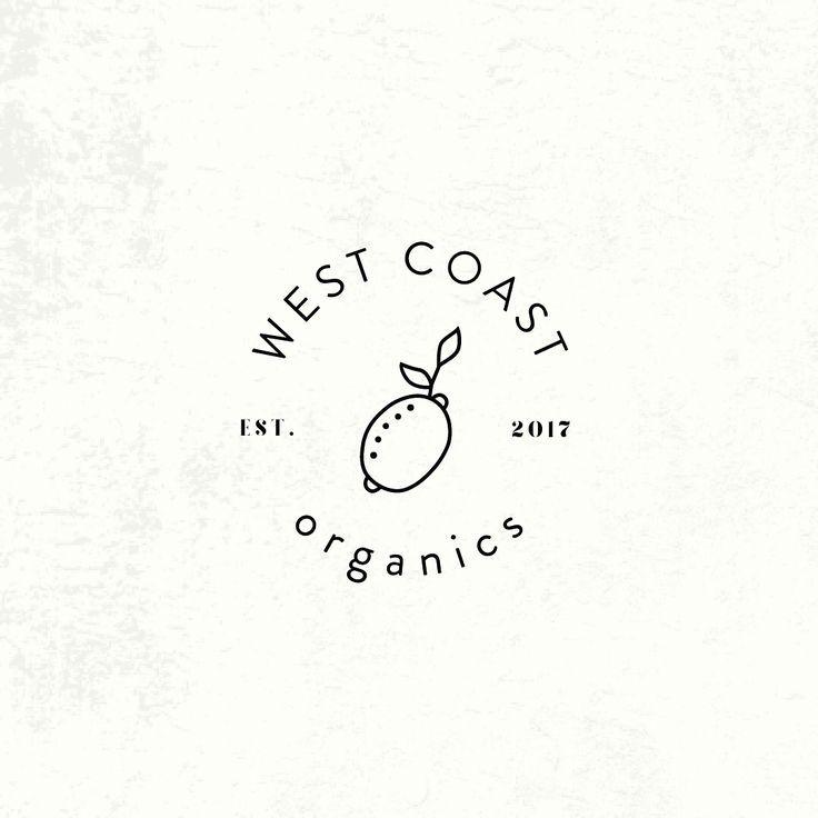 Adorably Simple Logo Design Organic Food Graphic Design Line Art Minimalist Minimalism Minimal Organic Logo Design Simple Logo Design Food Graphic Design