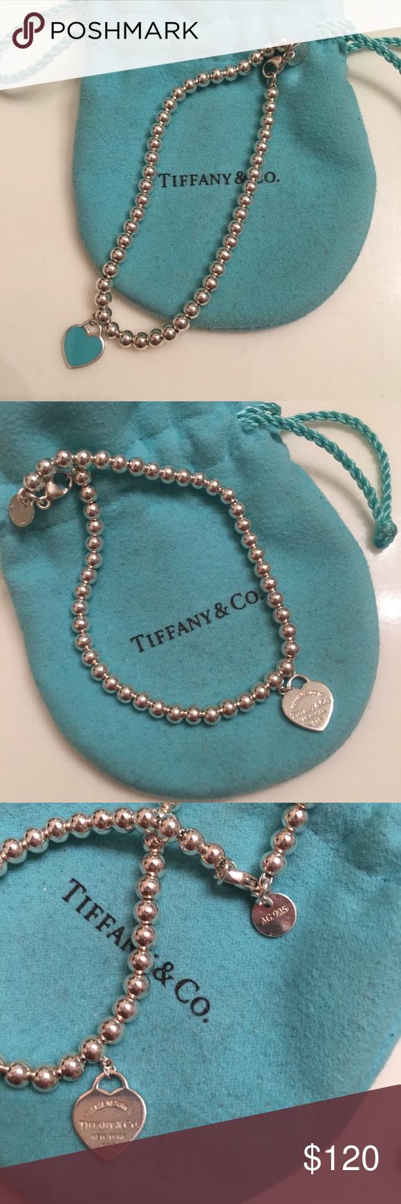 b6bfc5ecb Tiffany & Co Bead Bracelet Warn once- Sterling silver tag with Tiffany  Blue® enamel finish On a bead bracelet 7.5