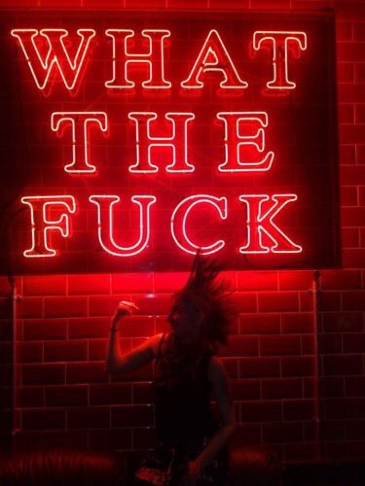 Image result for wtf red neon tumblr Neon words, Neon