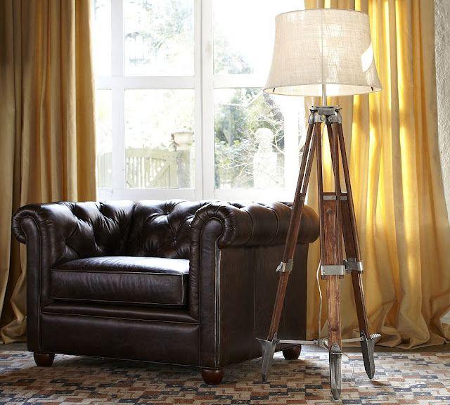 Surveyor's Floor Lamp... and, ok, the leather chair, too.