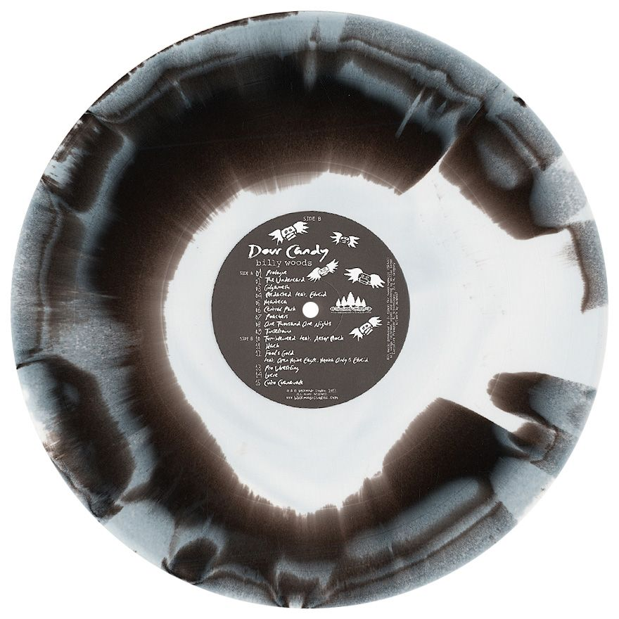 billy woods - 'Dour Candy (BLACK & WHITE MIXED COLOR VINYL)' Vinyl LP $24.97 the former Super Chron Flight Brother billy woods is one of the greatest emcees in the underground, who unfortunately has never had much material out on vinyl. this banger of an album is in the year's top ten hip hop LPs of the year, with all Blockhead production and features from Aesop Rock, Open Mike Eagle and more. only 300 made - don't miss out on this heeeat!