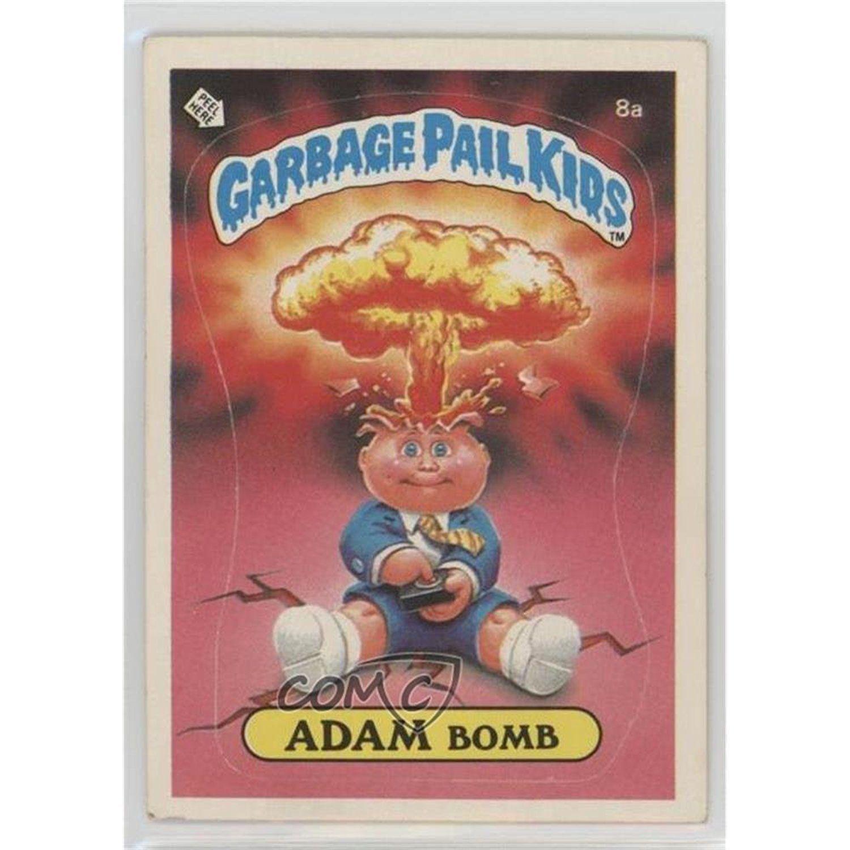 Adam Bomb Checklist Back Trading Card 1985 Topps Garbage Pail Kids Series 1 Base Entertainmentco Garbage Pail Kids Cards Garbage Pail Kids Kids Cards