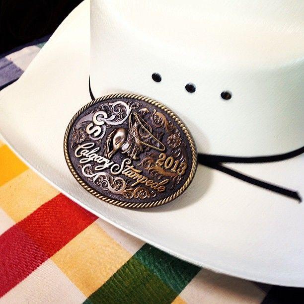 Calgary Stampede HBC style! #cowboyhat #stripes