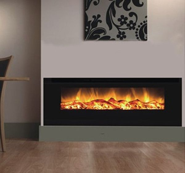 Realistic Electric Fireplace Decorative, Fake Fireplace Heater Wall