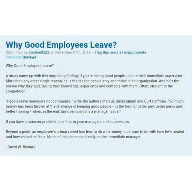 Why Good Employees Leave  Hhaaaannn