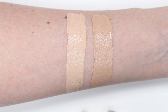 bareMinerals bareskin fair medium swatch