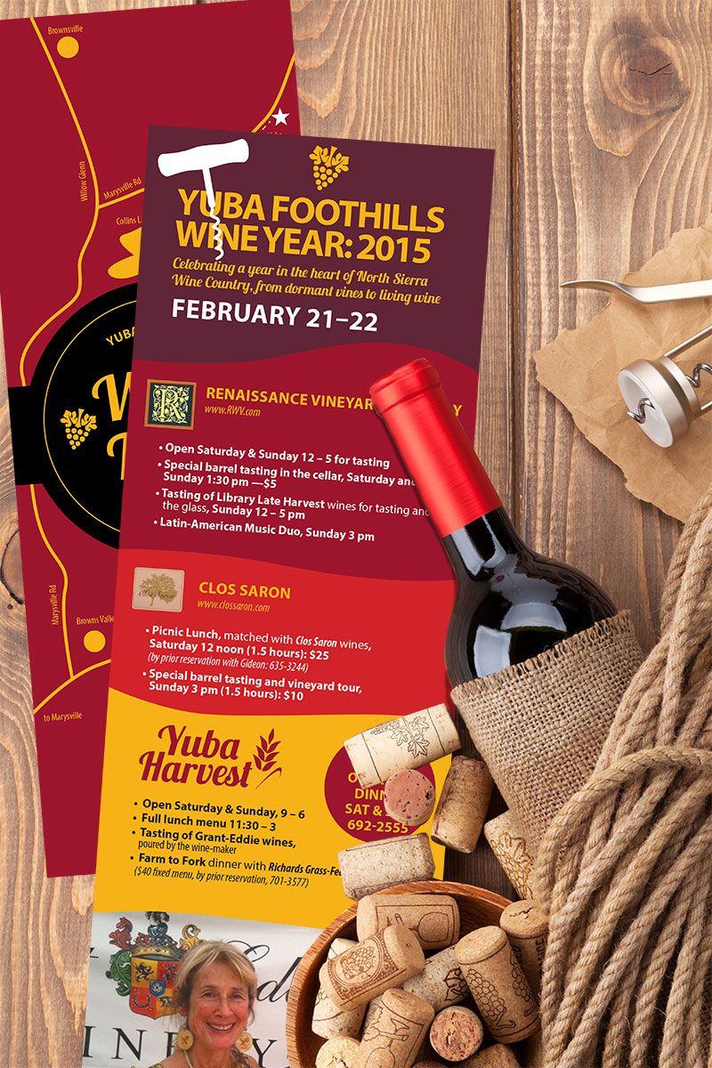 Wine Tasting Event Bookmark Design Con Immagini