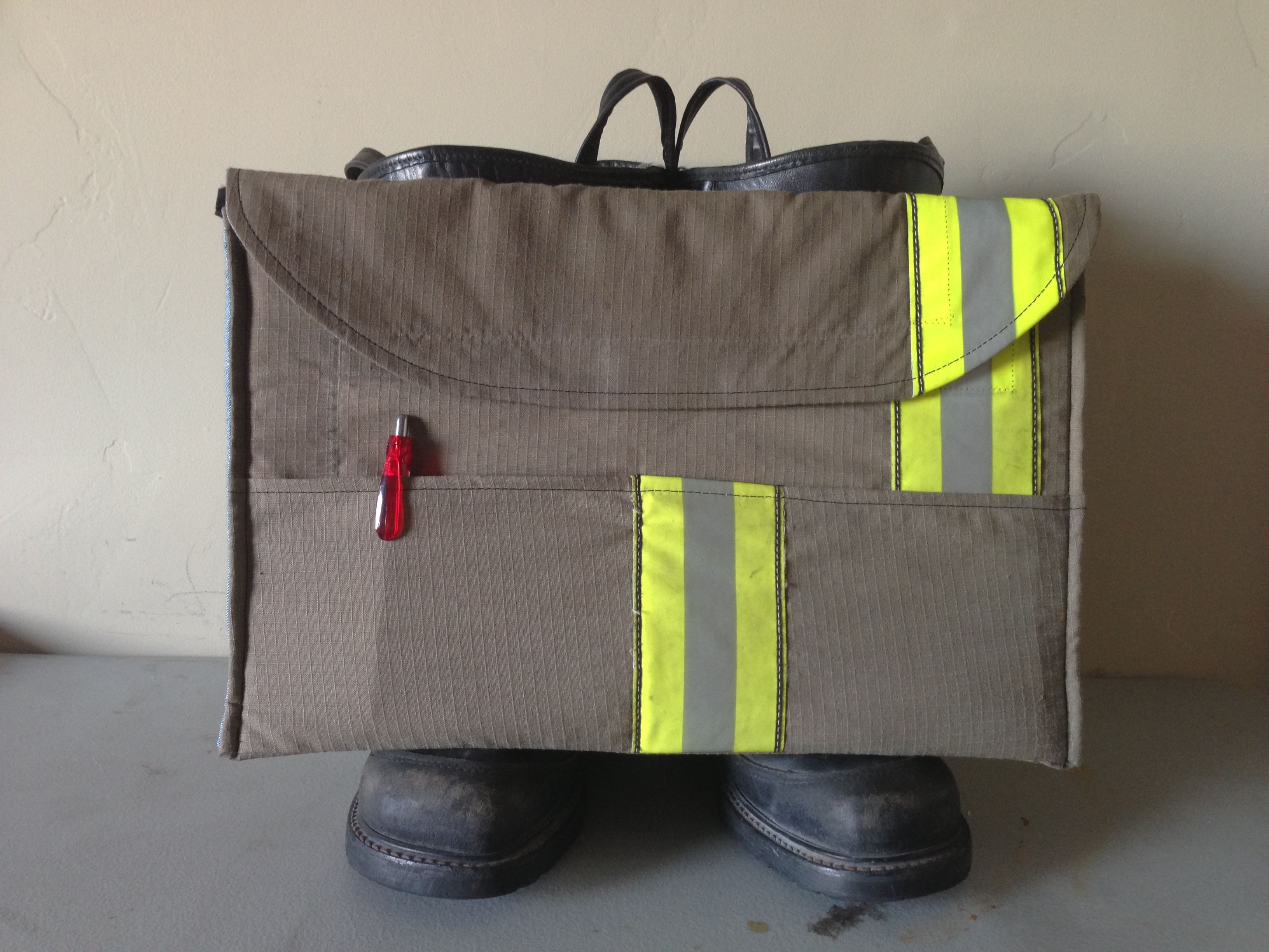 Recycled bunker gear bags - Laptop Sleeve Made From Recycled Firefighter Turnout Gear Www Reskugear Com