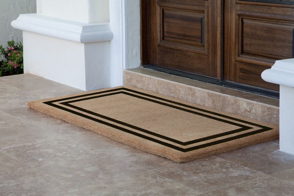 Picture Of Amazing Double Door Mat