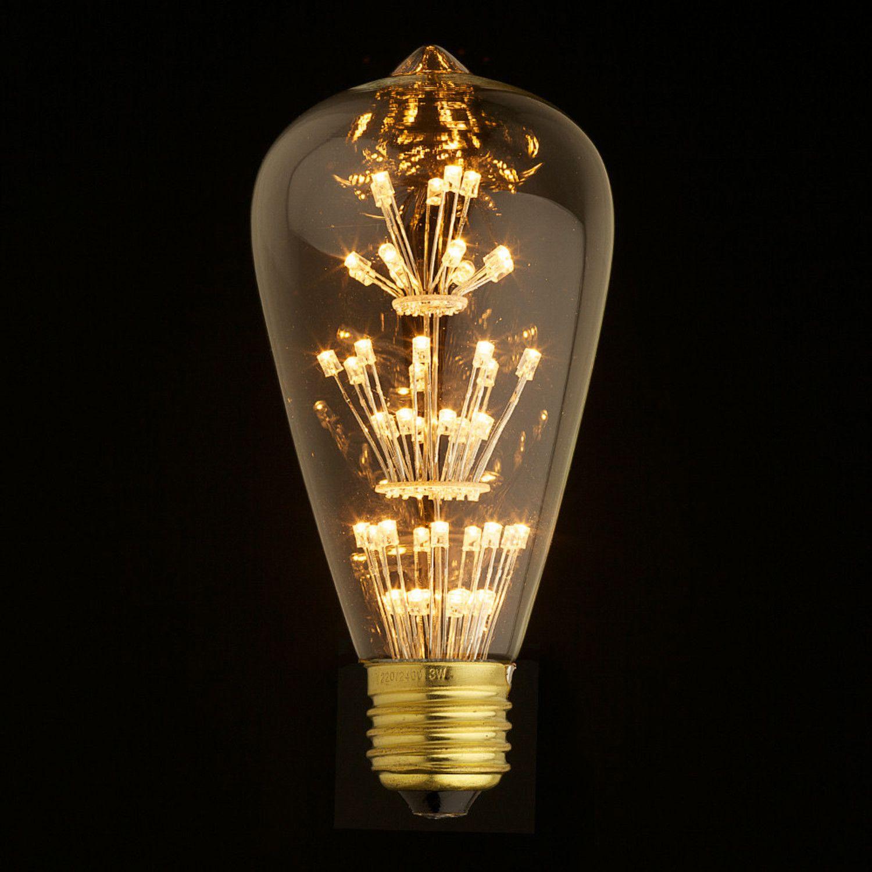 E27 Led Edison Fireworks Light Bulb Type S Vintage Light Bulbs Light Bulb Lamp Porch Light Bulb