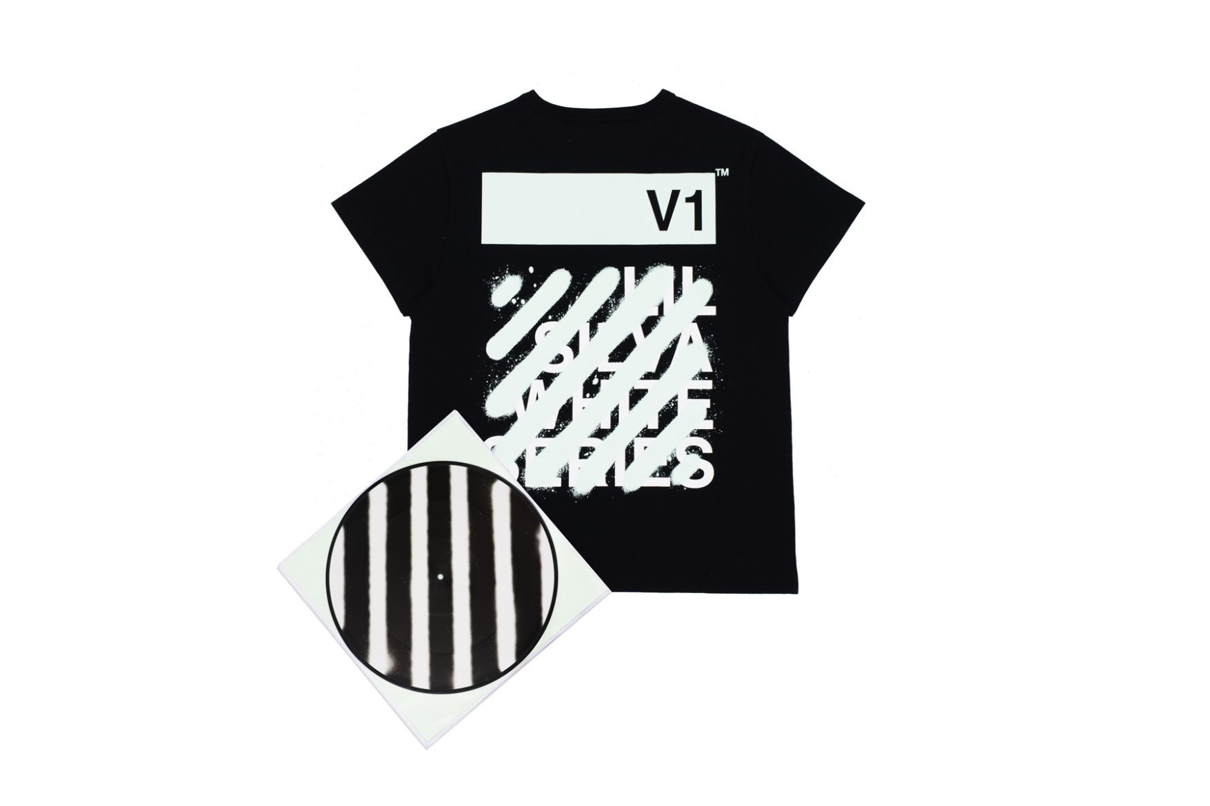 67fc2786f4e28e OFF-WHITE Lil Silva 2016 Fall Winter Collaboration Vinyl Music T-shirt Tees  Virgil Abloh